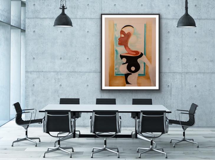 Edwin Fountain art in business office