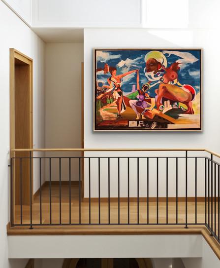 Edwin Fountain art upstairs