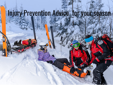 Injury Prevention Advice for your season.