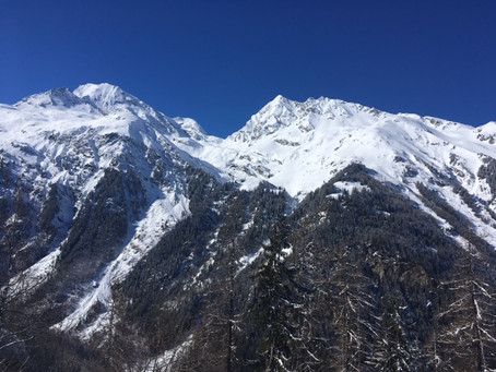 Amazing views from Ste Foy where I saw a client for physiotherapy on this stunning morning