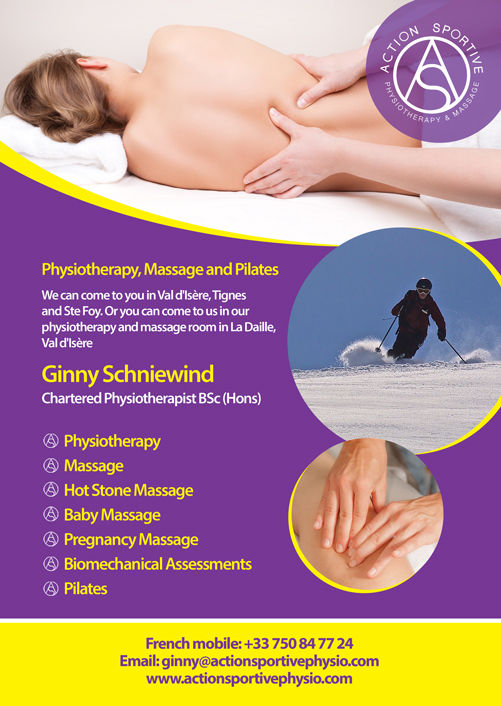 Services provided by Action Sportive Physiotherapy and Massage in Val d'Isere