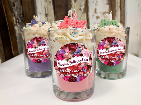 Vanilla Birthday Cake Soy Drink Candle