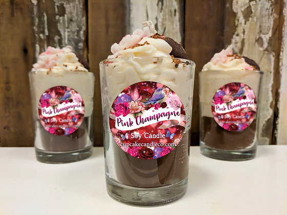 Pink Champagne Soy Drink Candle