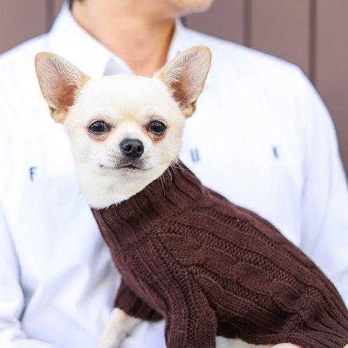 סוודר אלגנטי חום