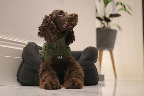 סוודר ירוק זית