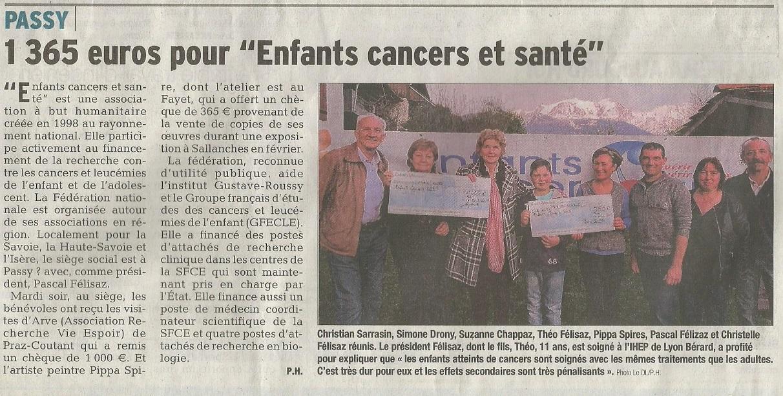 article ECS Dauphiné Libéré