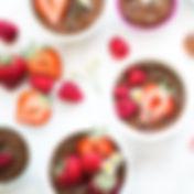 ベリーとチョコレートカップケーキ