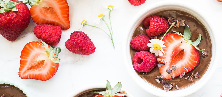 Healthy 4 Ingredient Chocolate Pudding