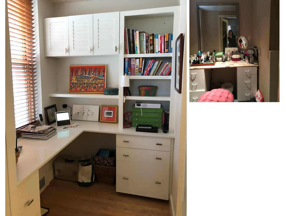 Conversion of a dressing room to an office