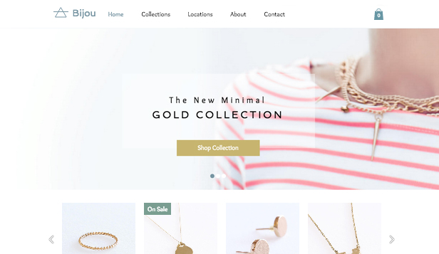 Fashion & Beauty website templates – Jewelry Designer