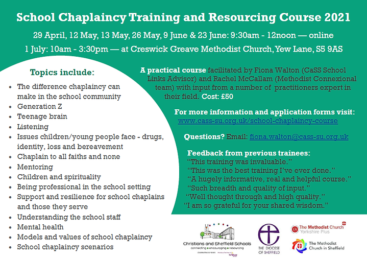 School Chaplaincy Course 2021 flier v4 N