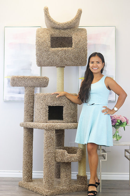 Cats Are Inn 7 Foot Tall Carpeted Cat Tree