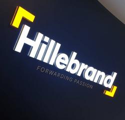 Hillebrands 3D illuminated sign
