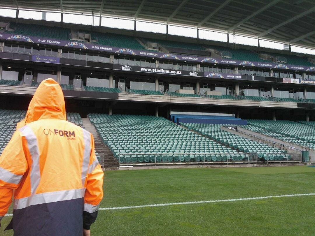qbe stadium signs