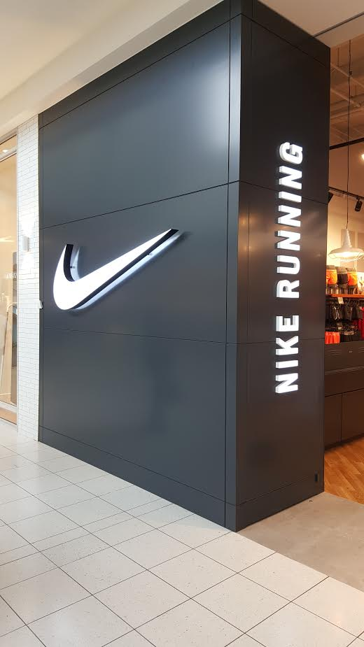 Nike Running Syliva Park Shop Signs