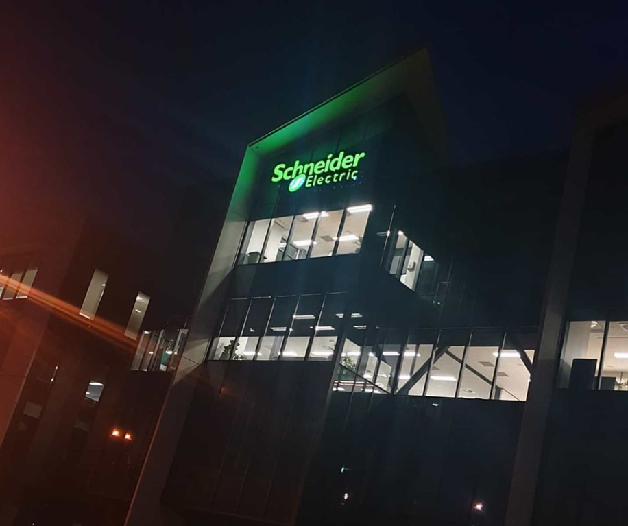 Schneider Electric illuminated signa