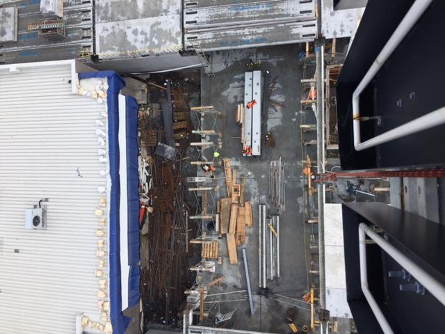 Neon Repair on Construction Crane Smiths