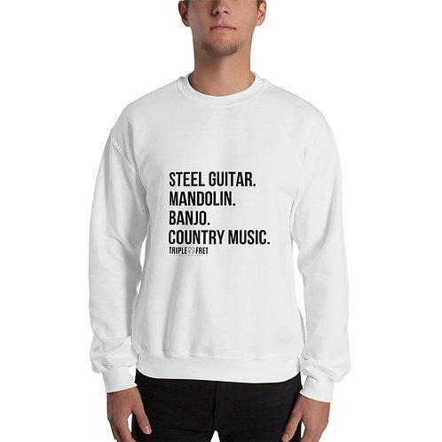 Steel Guitars and Mandolins Unisex Sweatshirt
