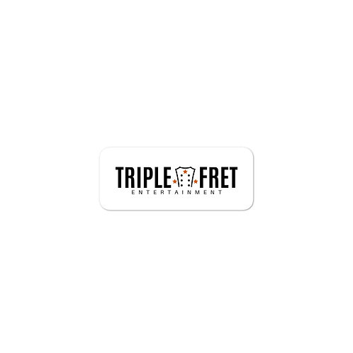 Triple Fret Entertainment Logo Sticker