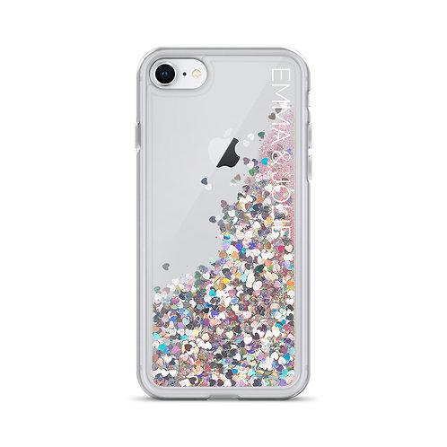 Emma & Jolie Liquid Glitter Phone Case