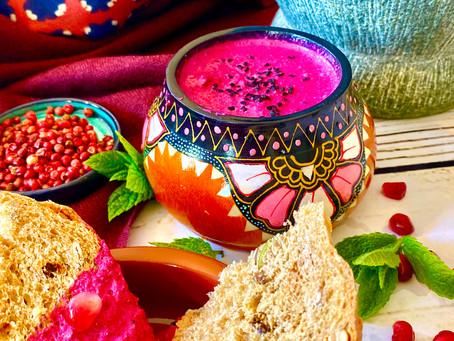 Egyptian beetroot & cumin dip
