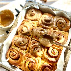 Overnight brown butter cinnamon rolls