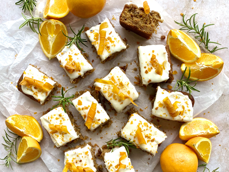 Carrot, orange & rosemary Cake