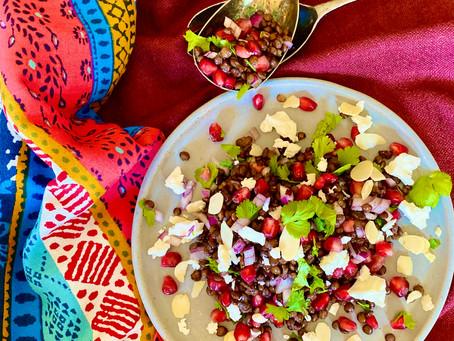 Puy lentil & feta salad