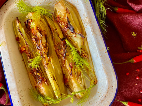 Seared spicy fennel