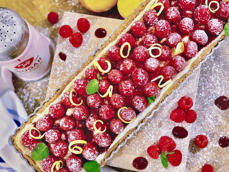 Lemon & Raspberry tart