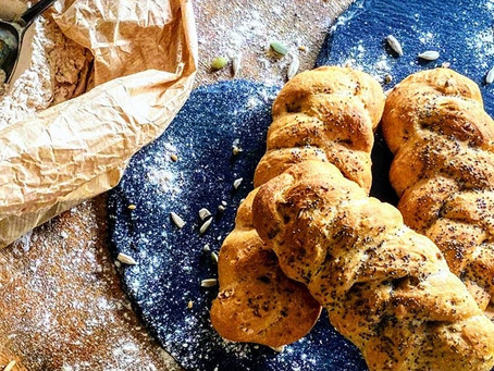 Easy seedy wholemeal plaits.