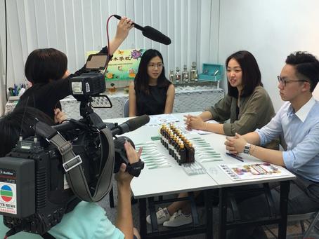 TVB 無線電視節目「財金導航」採訪本校