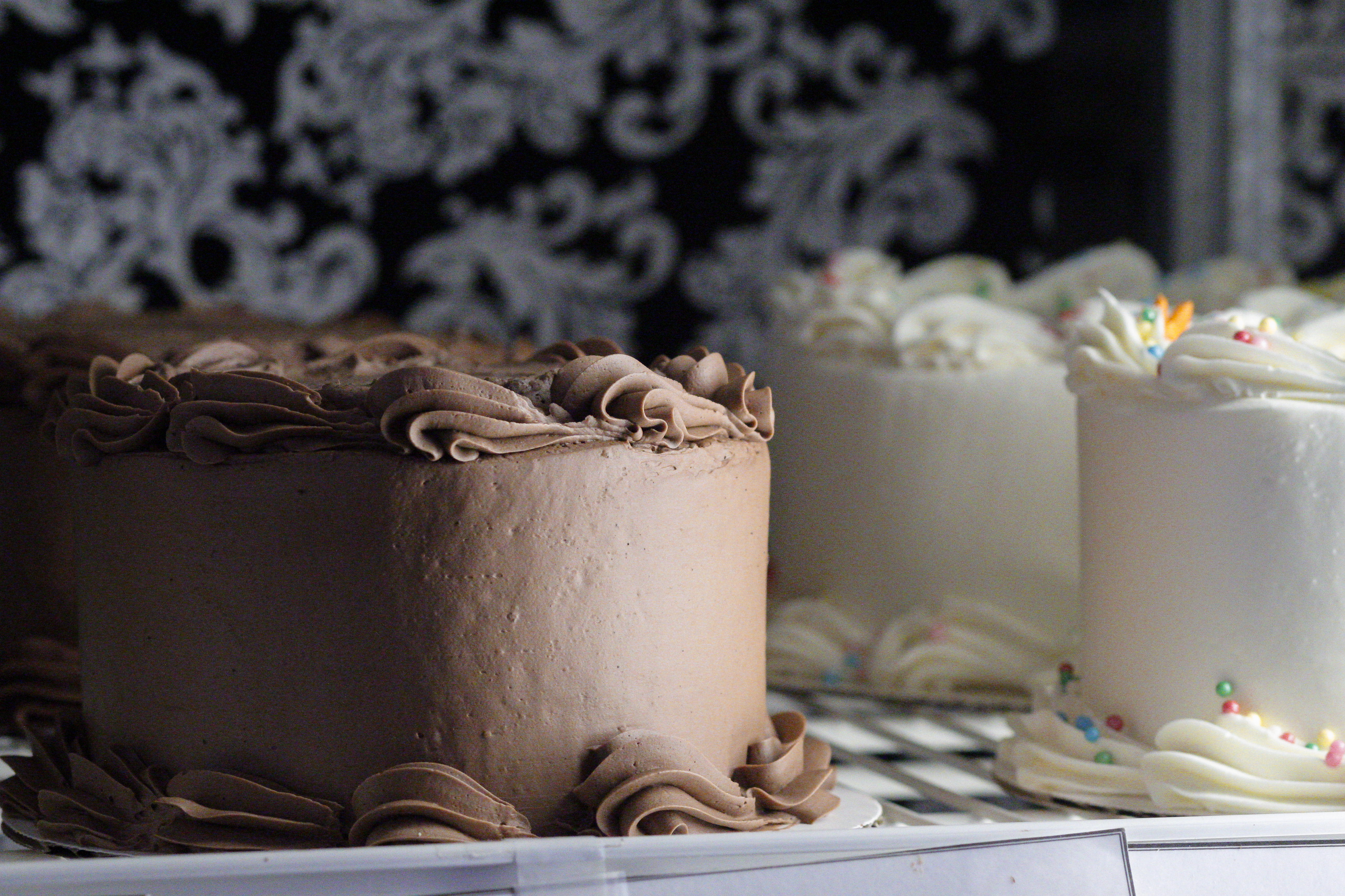 Chocolate and White Cakes