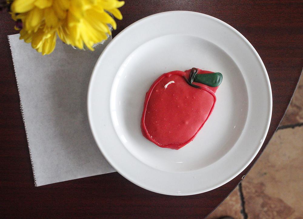 Apple decorated sugar cookie