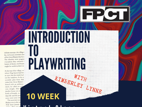 A new Education offering: Virtual Playwriting!