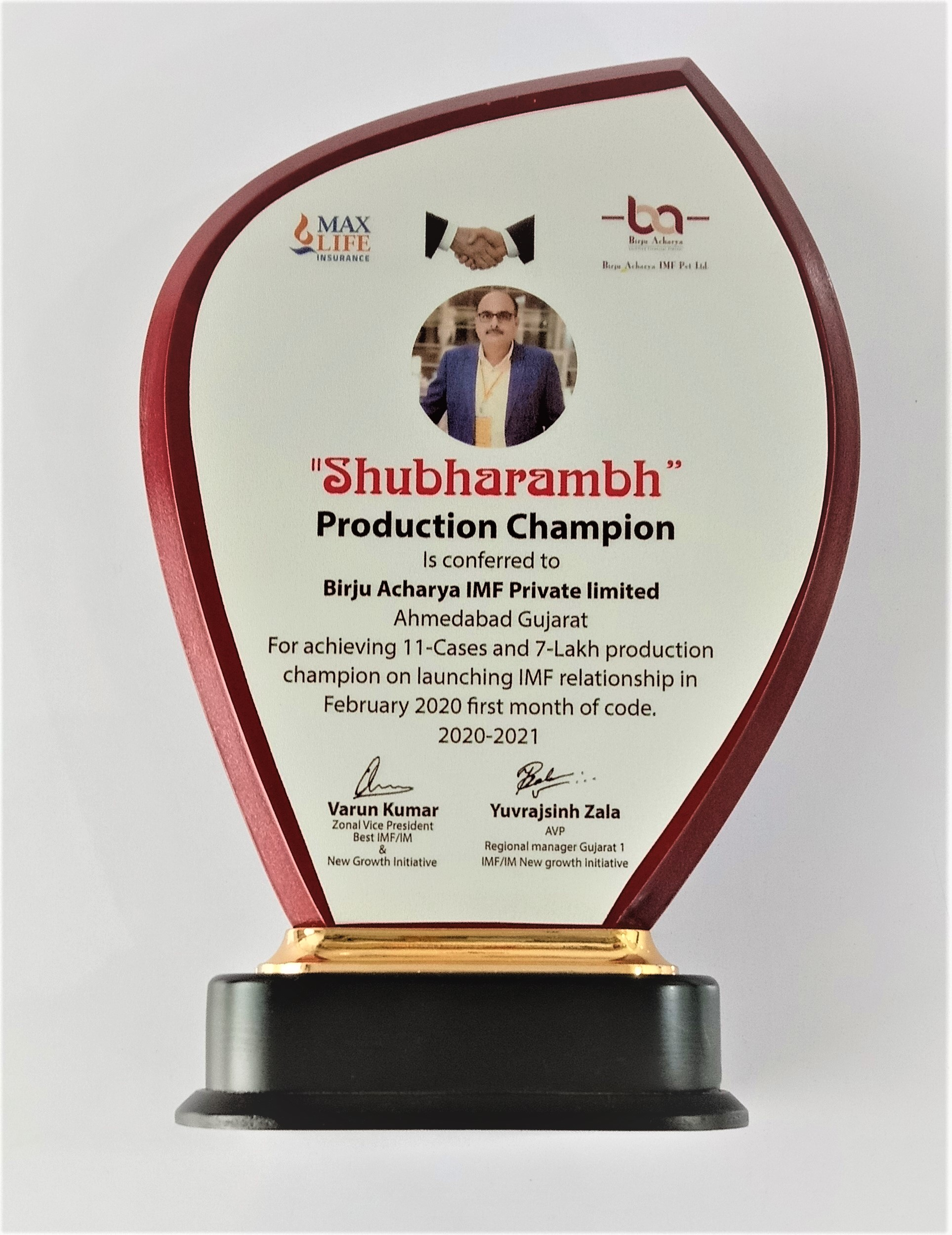 Shubharambh Production Champion