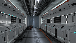 Spaceship Interior: Corridor