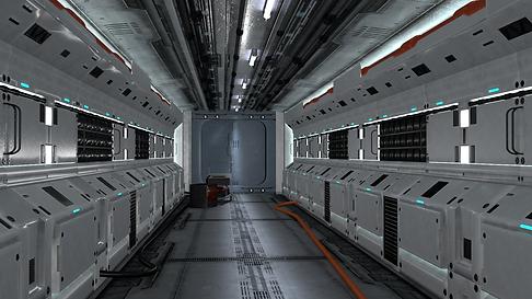 Spaceship Interior: Corridor