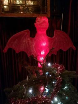 #HauntedMansion bat tree topper. The House of Sloth Studios
