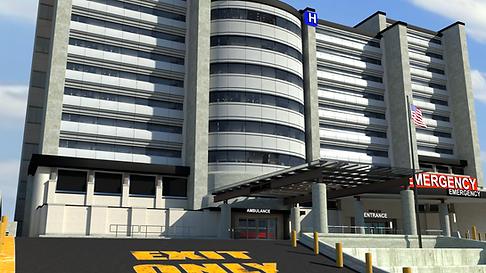 County General Hospital: Exterior Emergency/Urgent Care Entrance