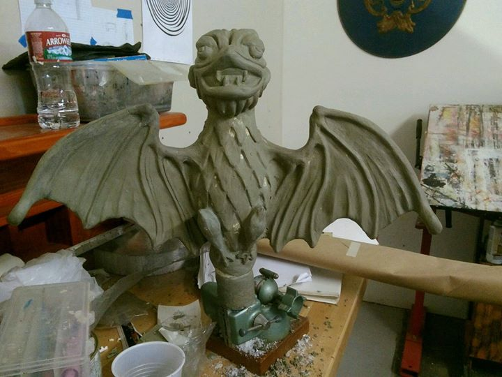 My Haunted Mansion bat replica is almost ready to cast