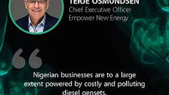 Interview with Terje Osmundsen for Future Energy Nigeria