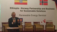 Speaking at Norwegian Business Delegation in Addis Ababa, Ethiopia
