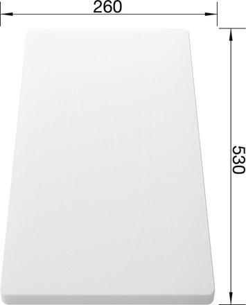 Blanco White Food Board 530 x 260 217611