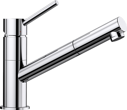 Blanco Kano S  Top Lever Monobloc Mixer Tap with Pull Out  - Chrome 521503