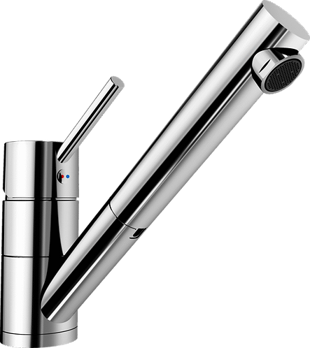 Blanco Peak-S Tap With Pull Out Nozzle Chrome & Brushed Steel 451026 451032