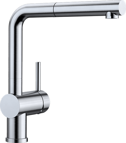 Blanco Linus-S Tap With Pull Out Nozzle PVD Steel Finish 526242