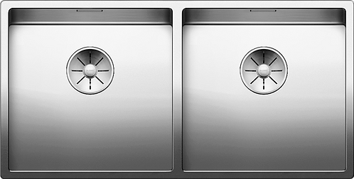 Blanco Claron 400/400-U Stainless Steel Double Bowl Undermount Sink  521618