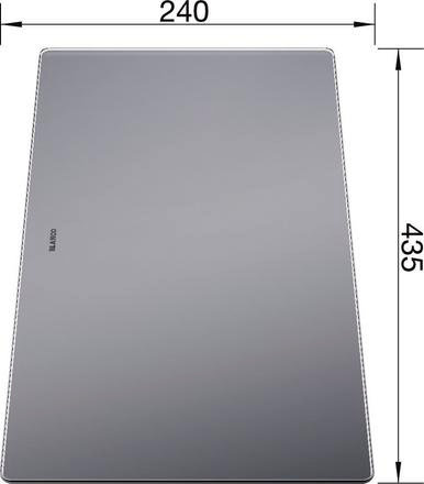 Blanco Glass Food Board 240 x 435 227697