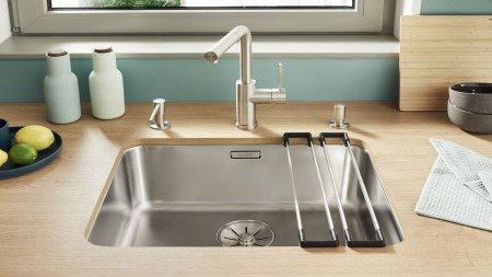Blanco Solis 700 U Stainless Steel Undermount Sink & Tap Pack 456350